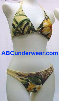 Triangle Tropical Floral Bikini