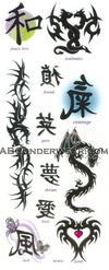 Tribal Karma Dragon Tattoos