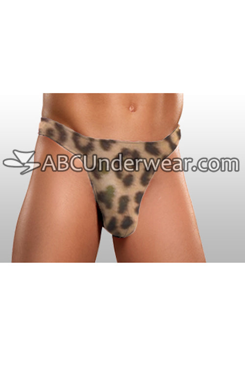 Cheetah Tricot Pouch Bikini Brief