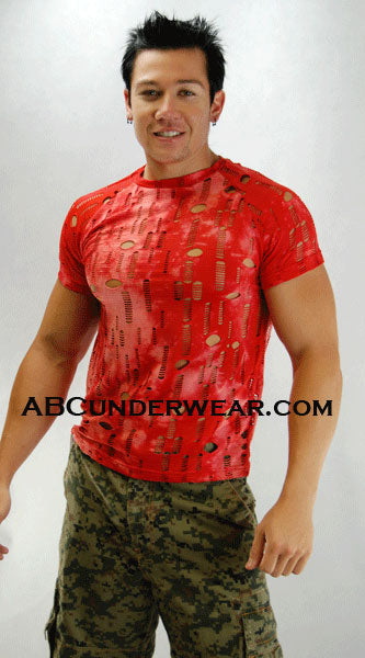 Elee T shirt with holes