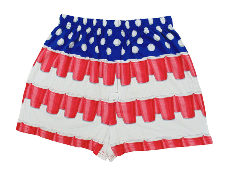 American Beer Pong Flag Boxer