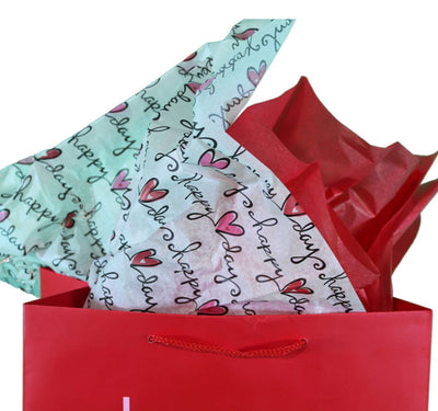 "Happy ""Heart"" Day Tissue Paper"