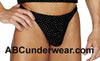 Velour Glitter Thong Closeout for Men