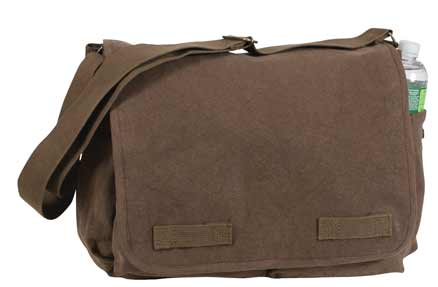 Brown Classic Vintage Messenger Bag
