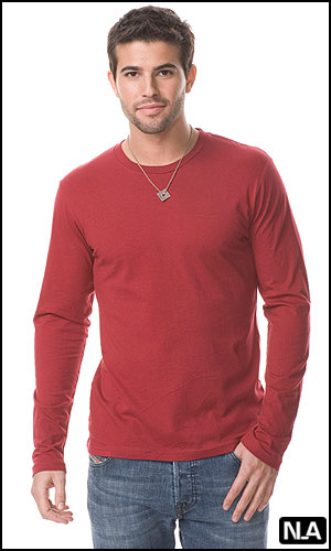 VINTAGE MEN'S FITTED CREW NECK LS SHIRT - Clearance