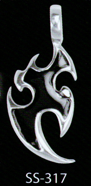 Warrior Bat Sterling Silver Pendant
