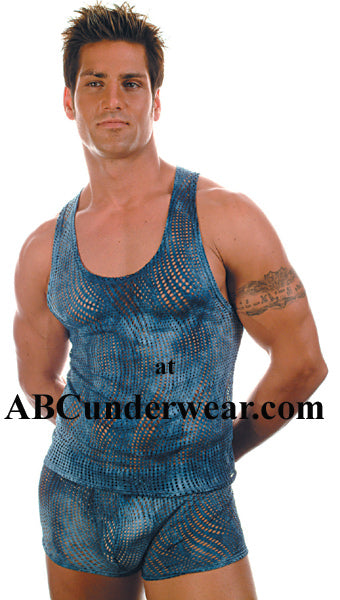 Wave Net Tank Top