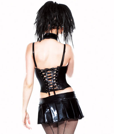 Wetlook Bustier with Wires