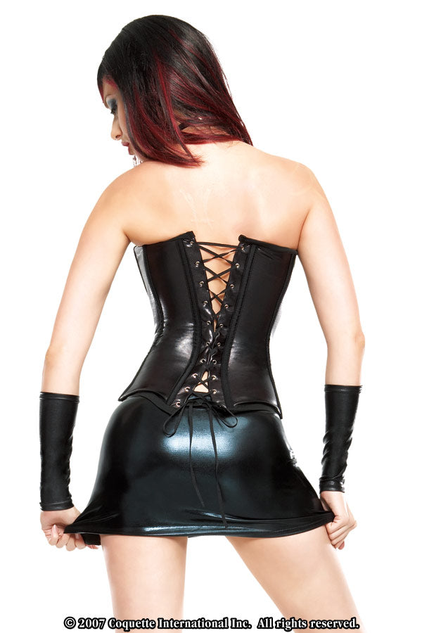 Wetlook Corset with Busk