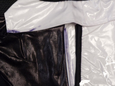 Wetlook Shirt with Attached Waist Cincher