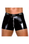 Wet Look Boxer Brief with Zipper