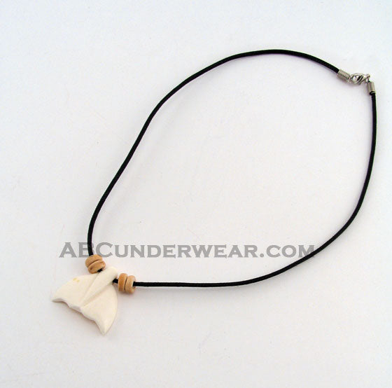 Whale Tail & Coco Cord Necklace