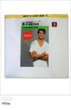 Hanes Classics White V-Neck T-Shirt for Men 6 Pack