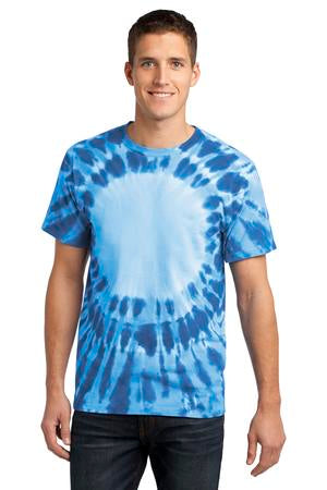 Unisex Window Tie Dye T-shirt Royal Blue