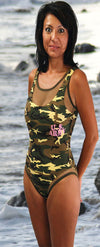Women's 1 pc Camo Swimsuit