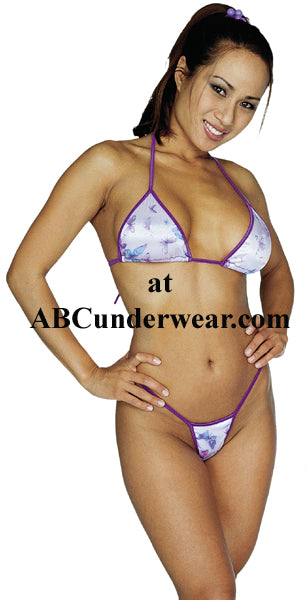 Women's Butterfly Micro Thong Set