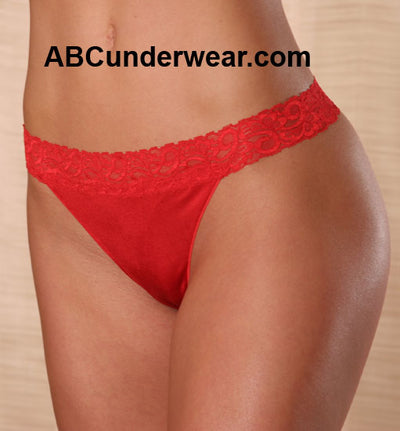 Women's G-String with Lace