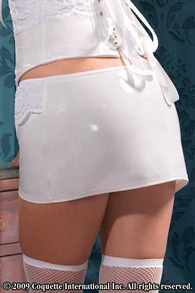 Lace Mini Skirt and PVC for women -Clearance