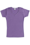 Womens Cotton V-Neck T-Shirt - Light Lavender Purple