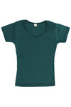 Womens Cotton V-Neck T-Shirt - Deep Sea Teal