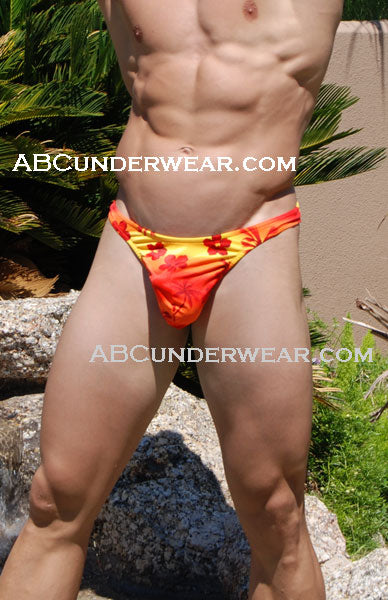 Hawaiian Sunset Wonder Thong for Men -Closeout