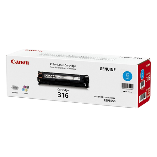 Canon 316 Toner Cartridge For LBP5050N (Cyan)