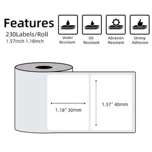 Multi-Purpose Square Self-Adhesive Label- 40x30mm Compatible for Printeet M110