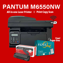 Load image into Gallery viewer, Pantum M6550NW Mono Bundle with Free! Paper One