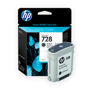 HP 728 F9J64A 69-ml DesignJet Ink Cartridge (Matte Black)