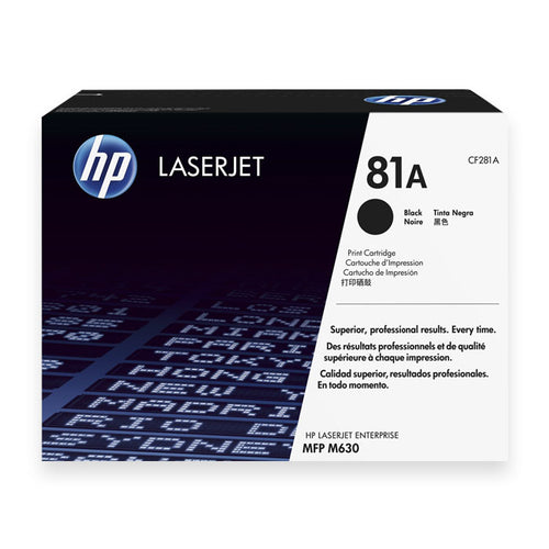 HP 81A CF281A LaserJet Toner Cartridge (Black)