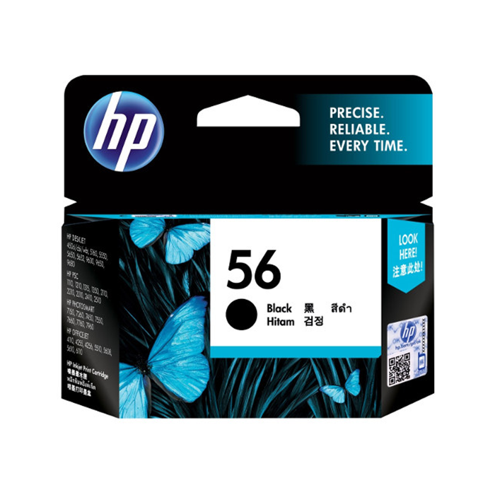 C6656AA - HP 56 Black Ink Cartridge