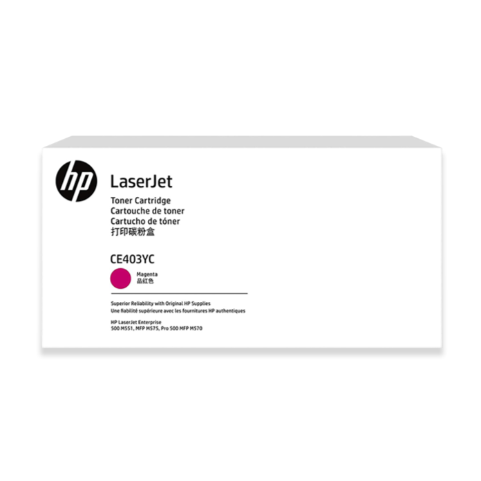 CE403YC HP High Yield Contract Original LaserJet Toner Cartridge (Magenta)