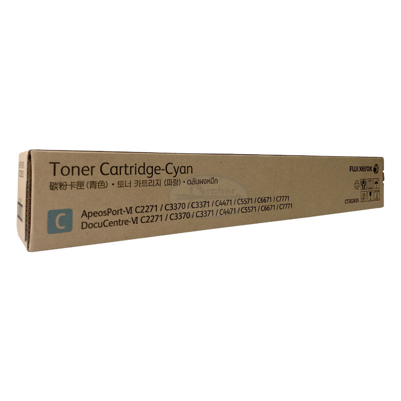 CT202635 Fuji Xerox Toner Cartridge for DC/AP  VI C2271 / C3370 / C3371 / C4471 / C5571 / C6671 / C7771 (Cyan)