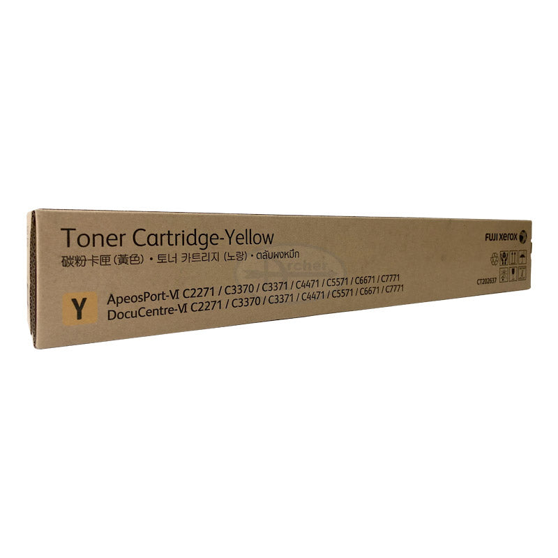 CT202637 Fuji Xerox Toner Cartridge for DC/AP  VI C2271 / C3370 / C3371 / C4471 / C5571 / C6671 / C7771 (Yellow)