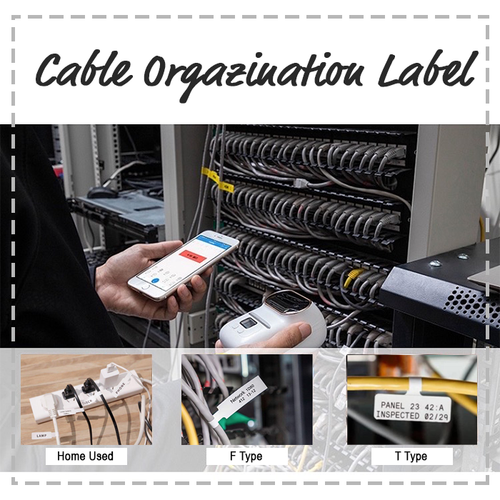 Printeet M110 | Cable Organization Label Bundle