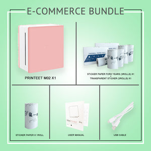 Printeet M02 E-Commerce Bundle Package I Portable Thermal Printer