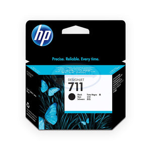 HP 711 Cz129a 38-ml DesignJet Ink Cartridge (Black)