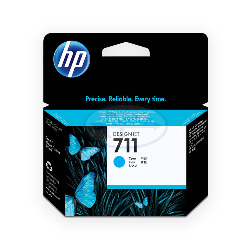 HP 711 Cz130a 29-ml DesignJet Ink Cartridge (Cyan)