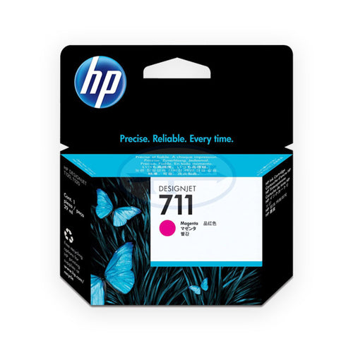 HP 711 Cz131a 29-ml DesignJet Ink Cartridge (Magenta)