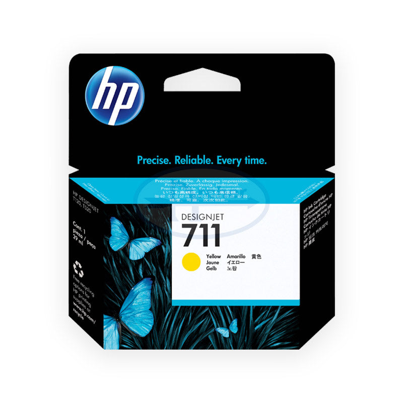 HP 711 Cz132a 29-ml DesignJet Ink Cartridge (Yellow)