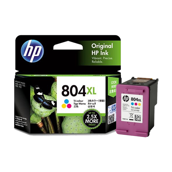 T6N11AA - HP 804XL Tri-color Original Ink Cartridge