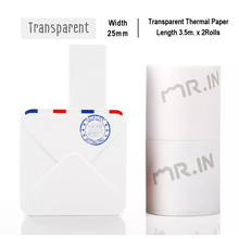 Load image into Gallery viewer, Transparent Sticker Thermal Paper | 15mm.