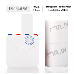 Transparent Sticker Thermal Paper | 15mm.