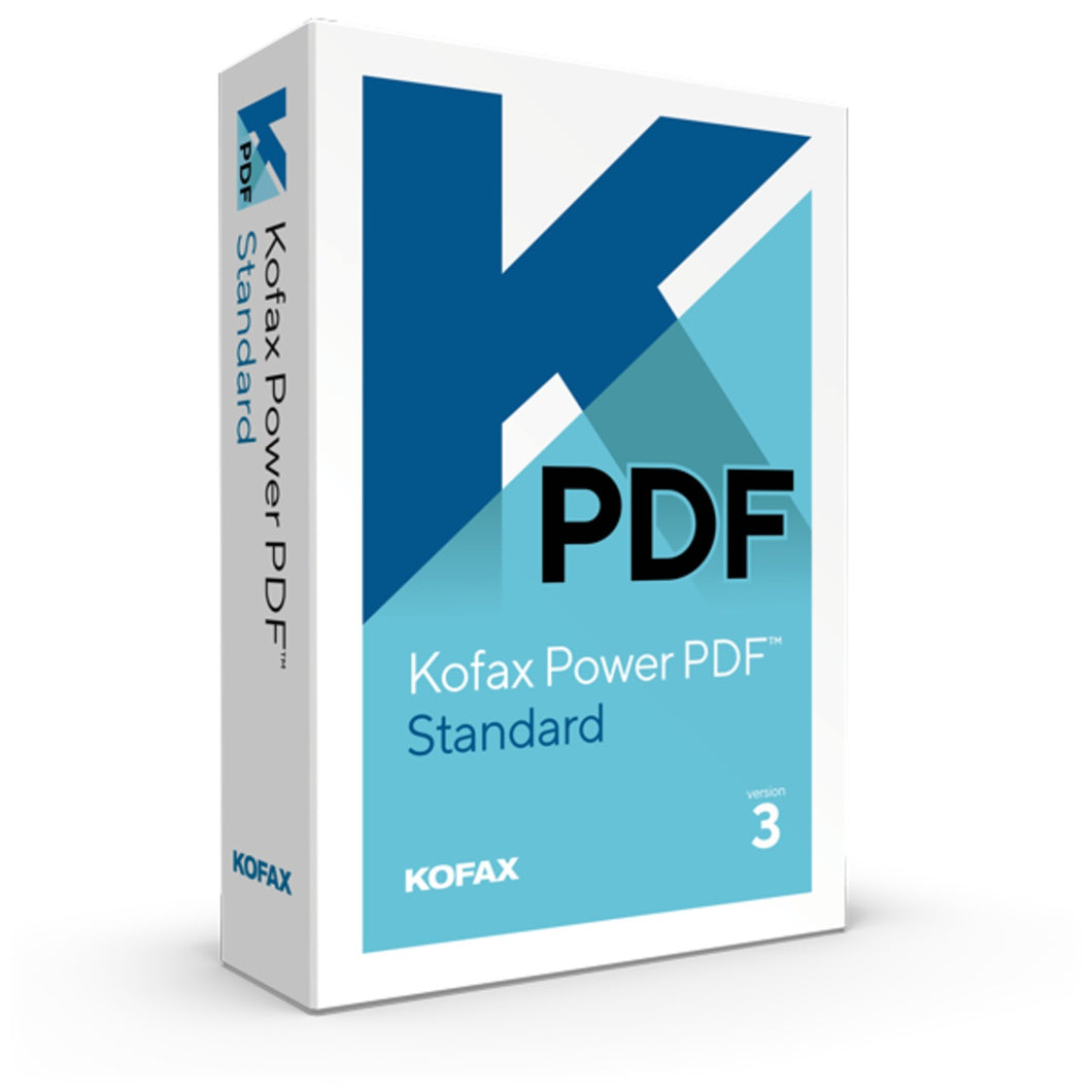 Kofax Power PDF standard Version 3 for Windows Editable PDF