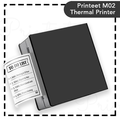 Portable Thermal Printer I Printeet M02 (Matt Black)