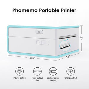 Portable Thermal Printer I Printeet M02 (Matt Cyan)