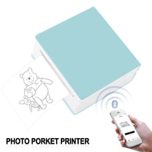 Load image into Gallery viewer, Portable Thermal Printer I Printeet M02 (Matt Cyan)