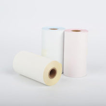 Load image into Gallery viewer, Colorful Non-Adhesive Thermal Paper Black Character on Yellow/ Blue/ Pink