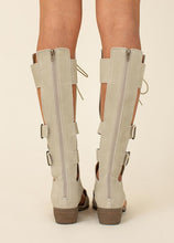 Load image into Gallery viewer, KEILANI GLADIATOR BOOT IN TAUPE