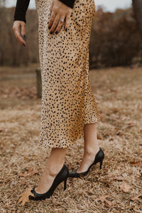 Dotted Silk Skirt